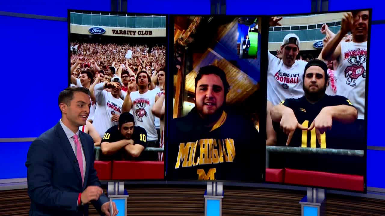 It S Just Unreal Lone Mich Fan In Viral Video At Badgers