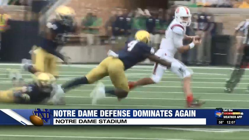 premium selection e7c4d 86026 Notre Dame defense dominates once again