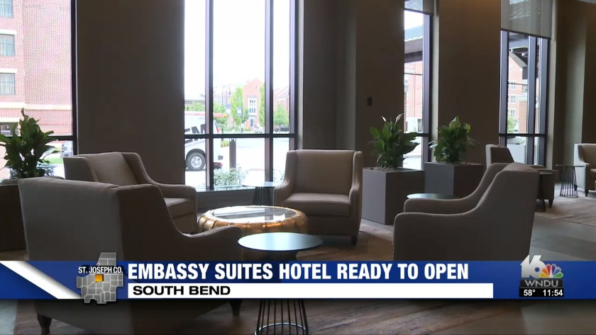 Embassy Suites Set To Open This Week In South Bend