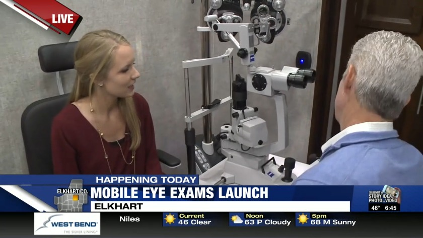 Mobile Eye Care Unit Brings Free Eye Exams Glasses To Elkhart Students
