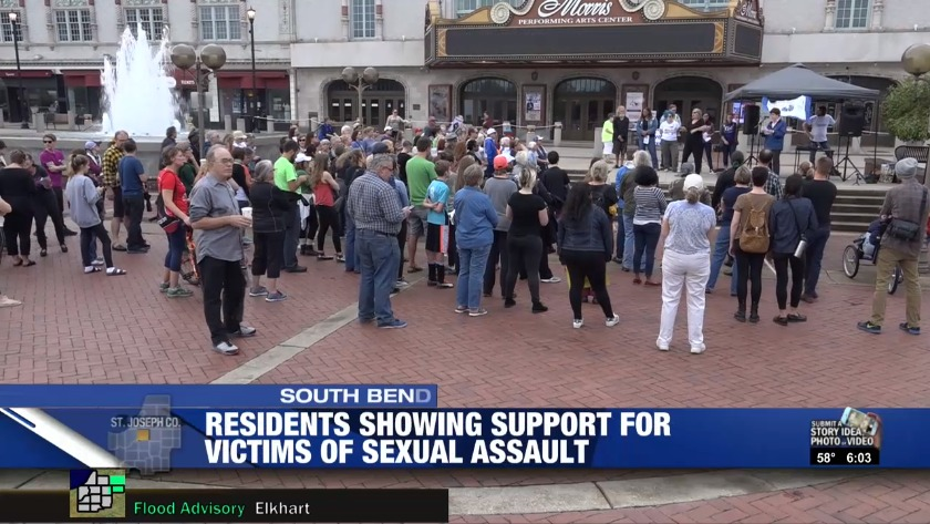 Dozens Rally To Support Victims Of Sexual Assault In South Bend