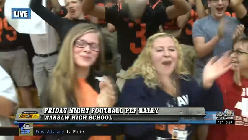 Warsaw Tigers Host 16 Morning News Pep Rally