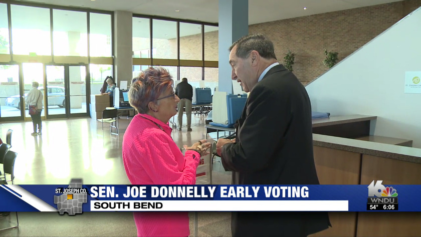 Donnelly Casts His Vote In South Bend