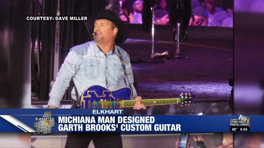 21670bfbe9998b Elkhart man designed Garth Brooks  custom guitar for Saturday s concert