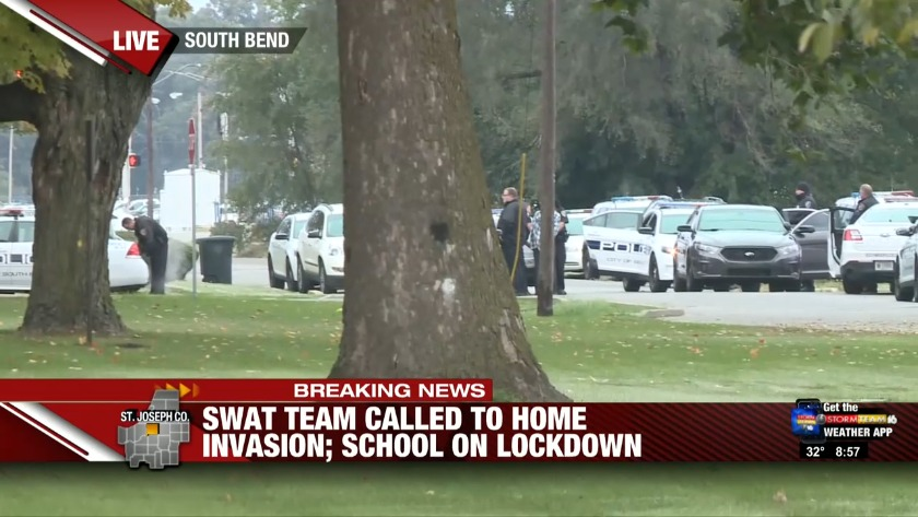 SWAT Team Responds To Potential Home Invasion In South Bend