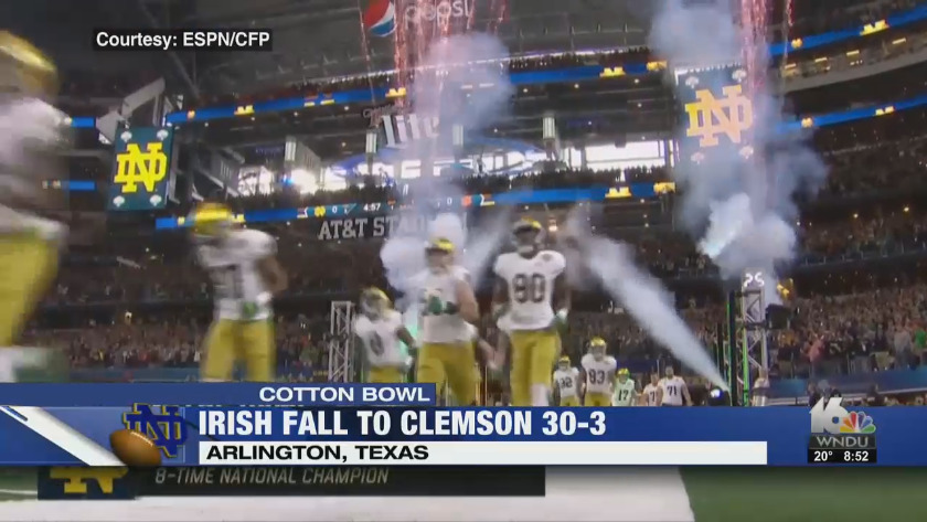 Irish Fall To Clemson 30 3 In Cotton Bowl Sam Mustipher 1 On 1