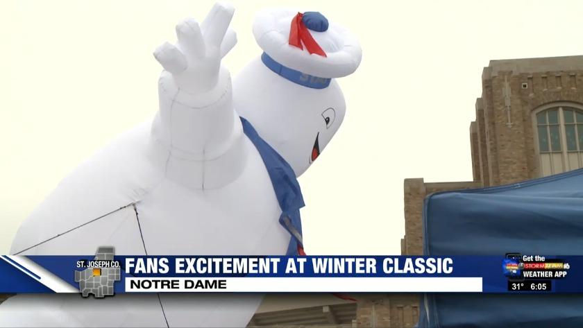 blackhawks bruins fans tailgate for winter classic