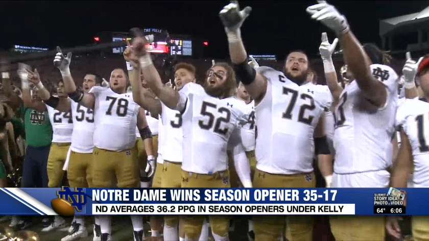 No  9 Notre Dame pulls away from Louisville 35-17