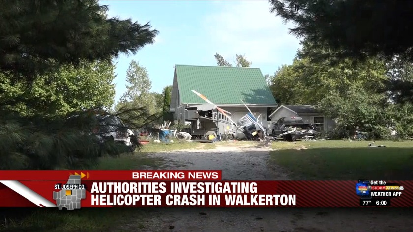 Emergency responders called to St  Joseph Co  helicopter crash