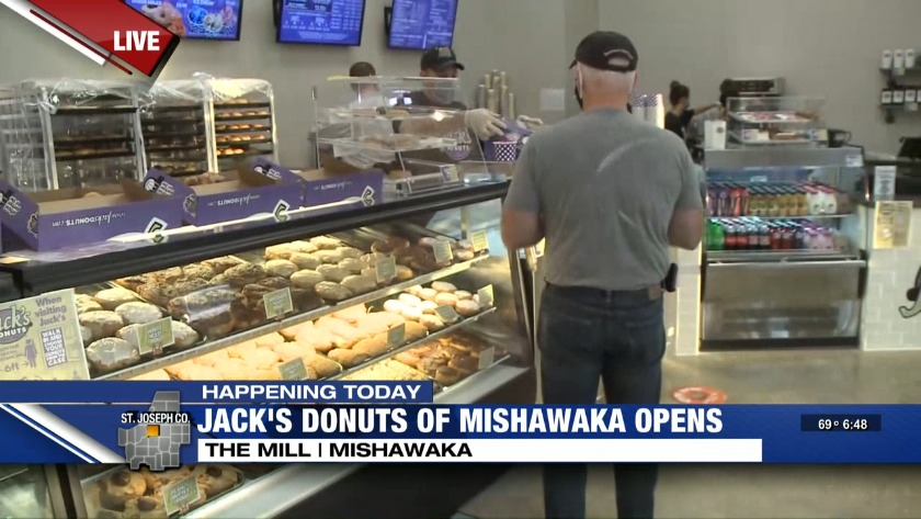 Jack S Donuts Opens In Mishawaka Only 4 customers are permitted inside at one time. jack s donuts opens in mishawaka