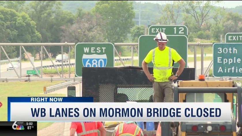 Emergency closure of Westbound I-680 at the Missouri River Bridge