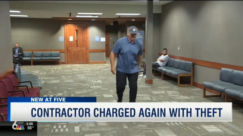 Bond set at $25,000 for contractor charged with theft
