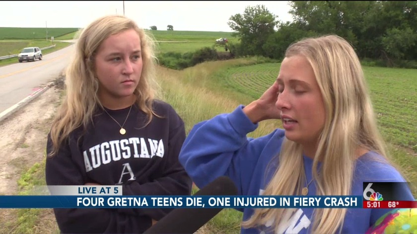 Four Gretna High School students killed, another burned in