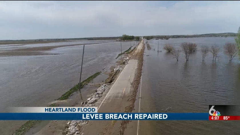 HEARTLAND FLOOD: Breached levee near Bartlett has been repaired