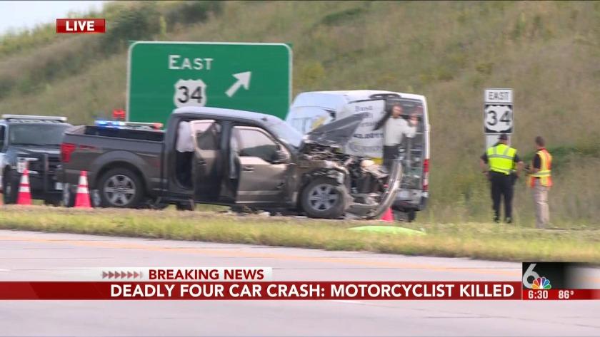 Motorcyclist killed in multi-vehicle crash on Highway 75