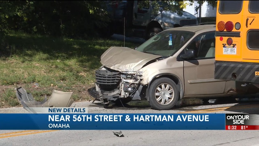 School bus involved in crash in North Omaha