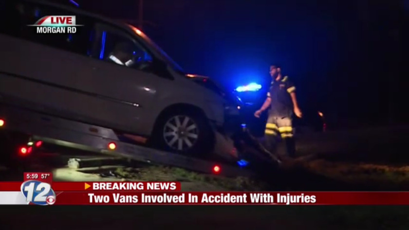 One person taken to hospital after accident on Morgan Road