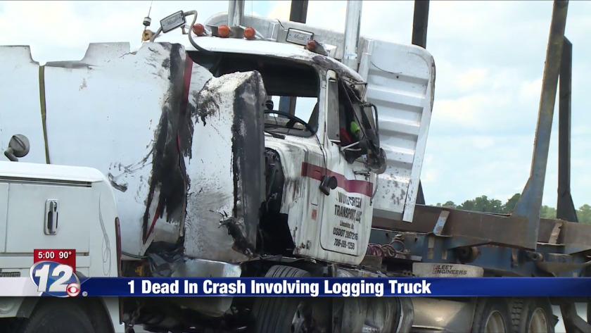 1 Dead In Crash Involving Logging Truck (5)