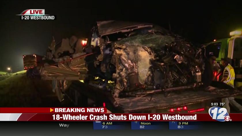 Wrong way crash on I-20, shuts lanes