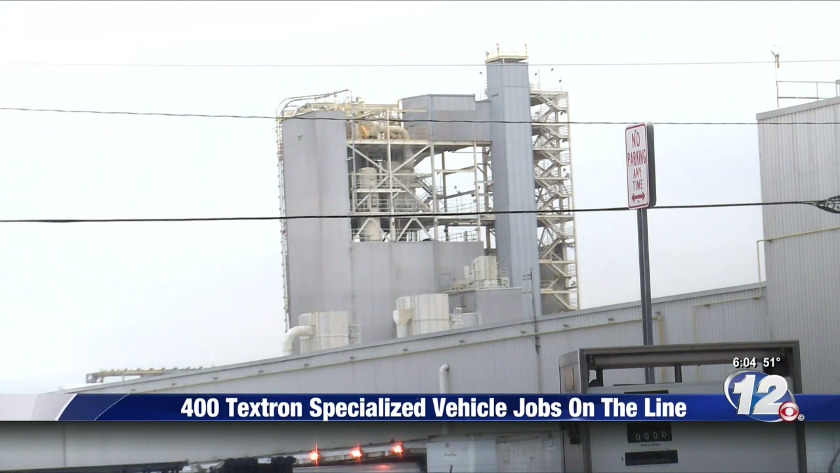 UPDATE: Textron Specialized Vehicles planning to layoff 400