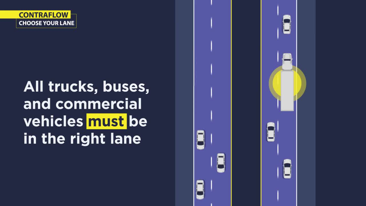 UPDATE: EB contraflow lane causes traffic delays on I-64
