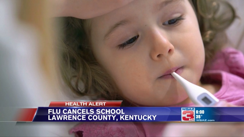UPDATE: Districts canceling school because of the flu