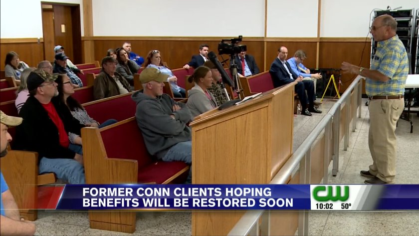 UPDATE | 800 former Conn clients 'likely to get benefits back'