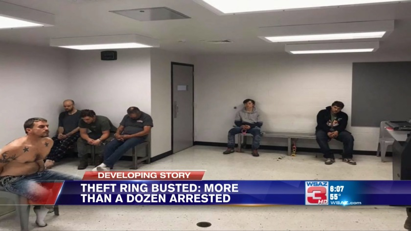 More than a dozen busted in stolen property ring