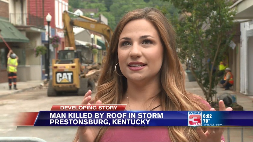 UPDATE   Prestonsburg street back open after storm blew roof off