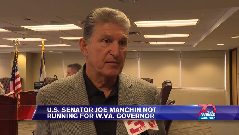 UPDATE | Manchin will not run for West Virginia governor