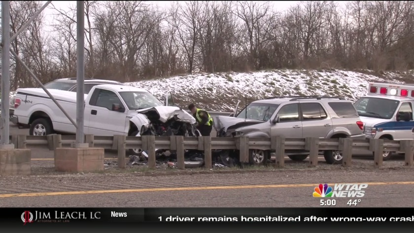 1 driver remains hospitalized after wrong-way crash on U S  Route 50