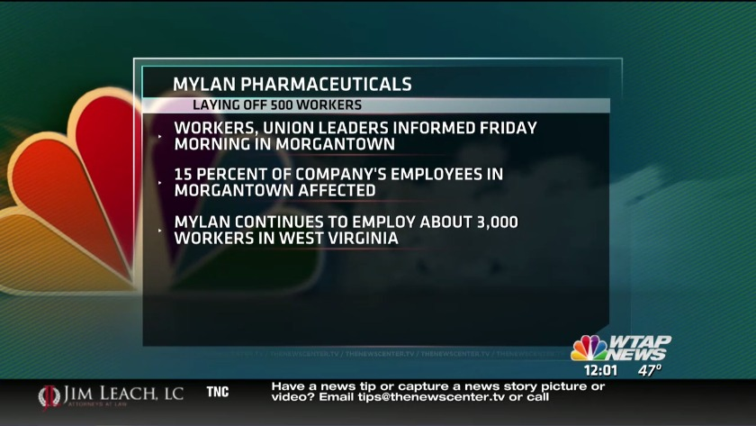 UPDATE: Mylan agrees with union on severance for laid-off