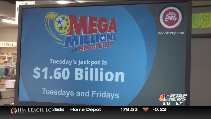 UPDATE: Mega Millions drawing is Tuesday night