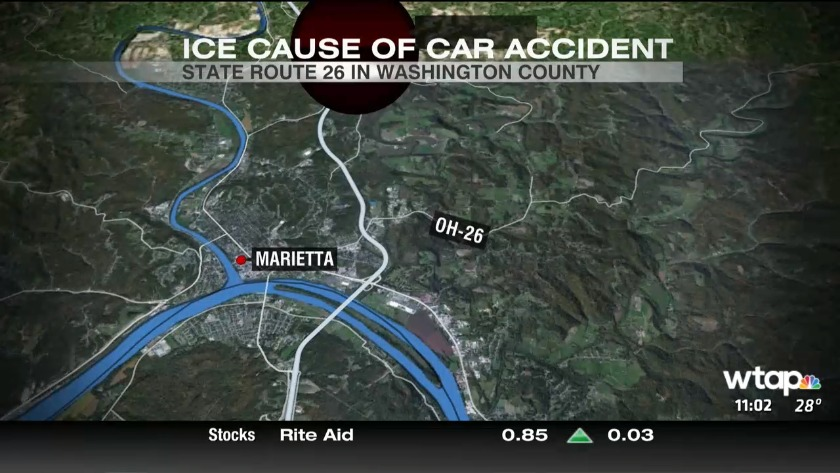 UPDATE: 4 Hospitalized after ice causes crash on Route 26 in Marietta