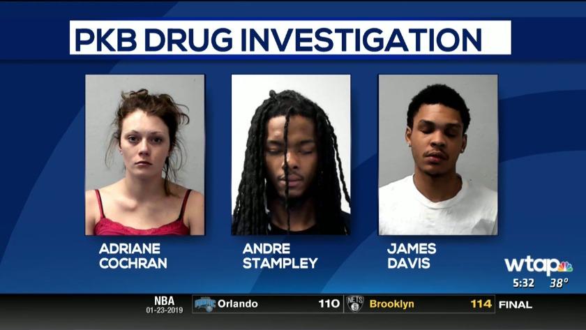 3 jailed on drug charges after arrest in Parkersburg