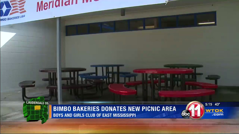 Bimbo Bakeries donates new picnic area to the Boys and Girls