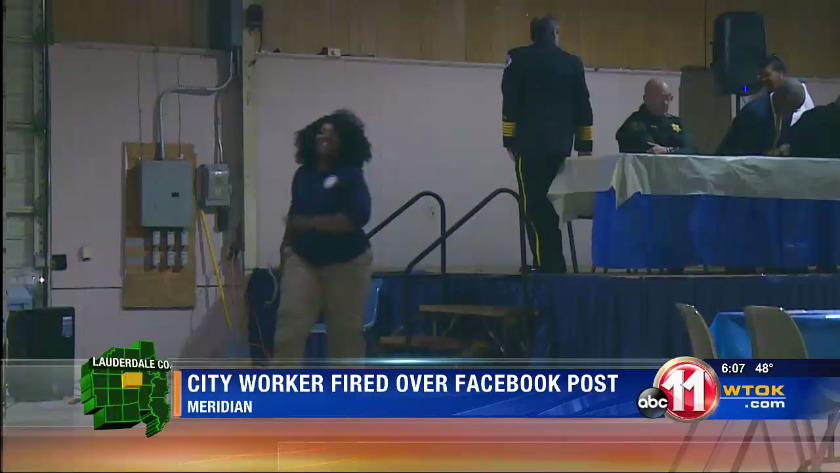 Meridian city worker fired over controversial Facebook post