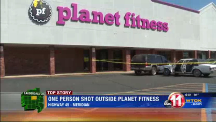 Person Shot In Front Of Planet Fitness In Meridian