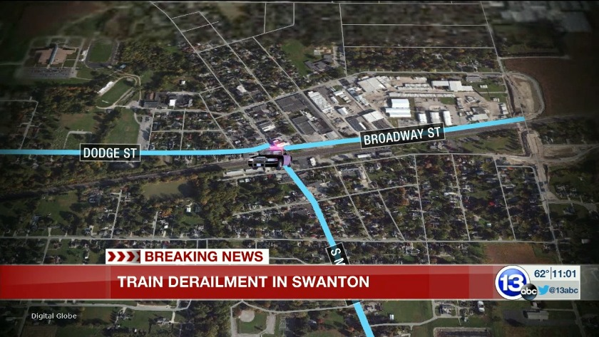 Police continue investigating overnight train crash in Swanton