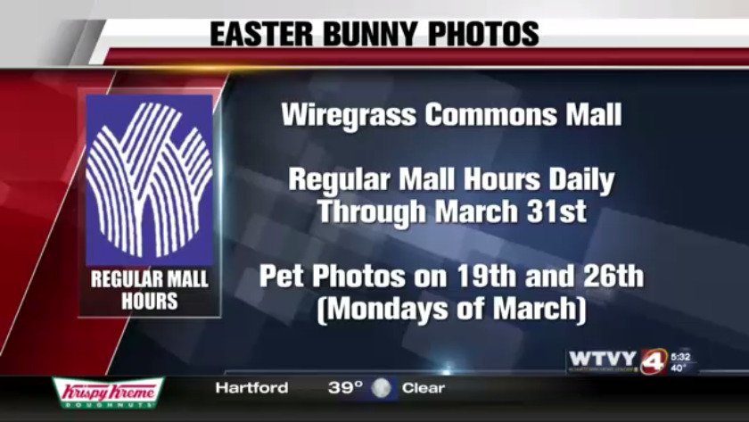 Easter Bunny is visiting Dothan's Wiregrass Commons Mall