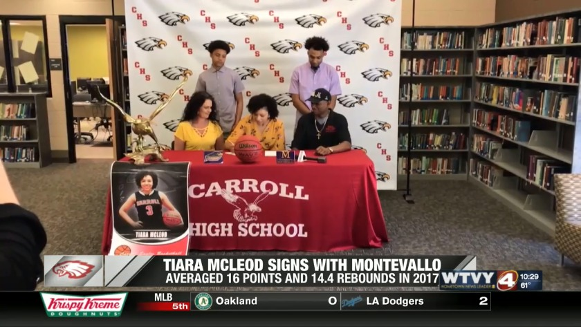 0ba5dc08822f Carroll s Tiara McLeod signs with the University of Montevallo
