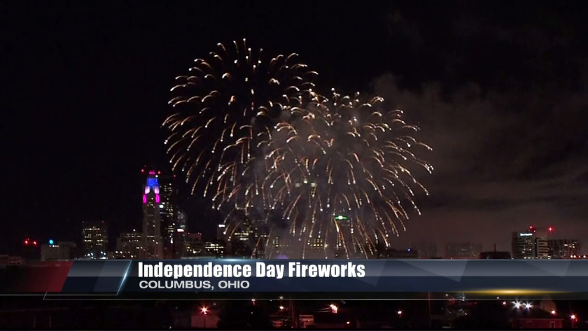 Independence Day fireworks from Columbus, Ohio