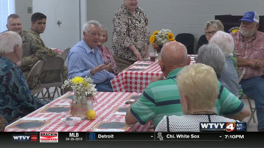 Real McCoys luncheon in Enterprise for farmers and soldiers