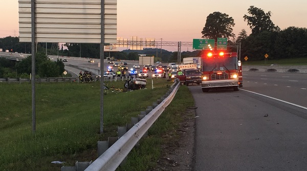 Southbound ramp from I-40E to Alcoa Hwy closed due to serious crash