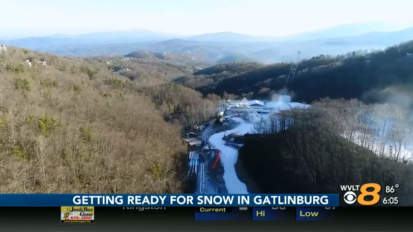 Gearing Up To Make Snow At Ober Gatlinburg