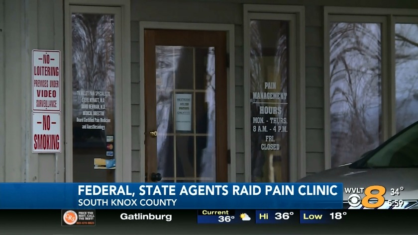 Authorities search South Knoxville pain clinic
