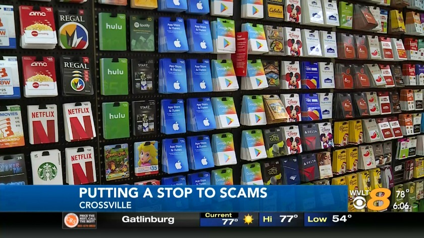 Crossville Police crack down on gift card scams
