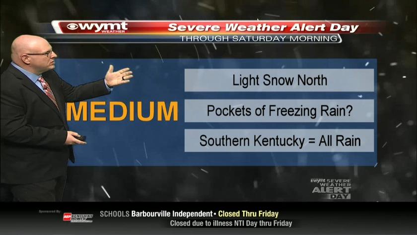 Brandon Robinson's 5 a m  Forecast-February 15th, 2019