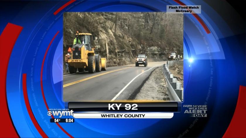 Mudslides close roads across Eastern Kentucky