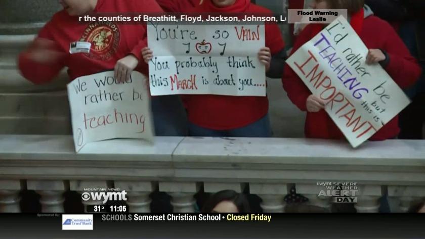 Gov  Bevin criticizes teacher protests as more schools